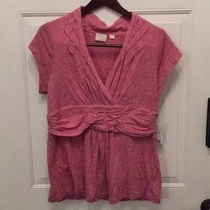Anthropologie Heathered Red Tank in Large